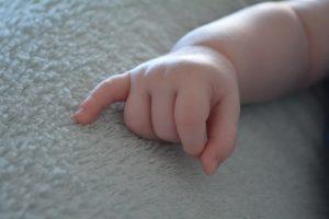 Hand van baby